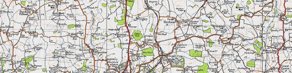 Old map of Alsa Lodge in 1946