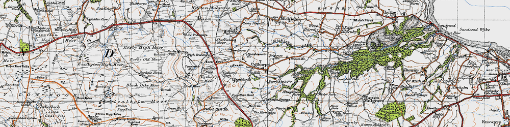 Old map of Wilks Rigg in 1947