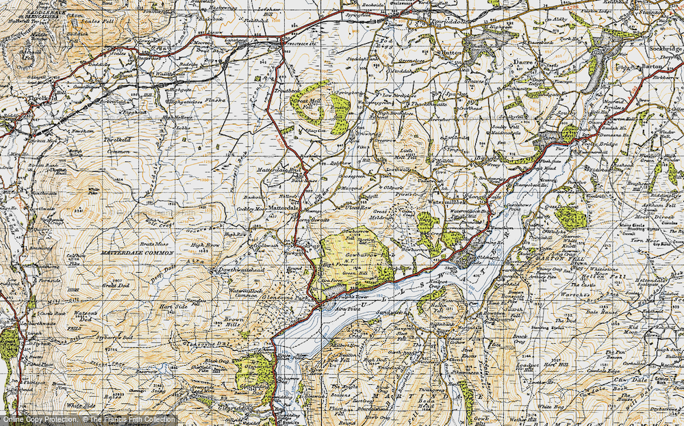 Old Map of Historic Map covering Todgill in 1947