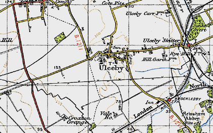 Old map of Ulceby in 1947