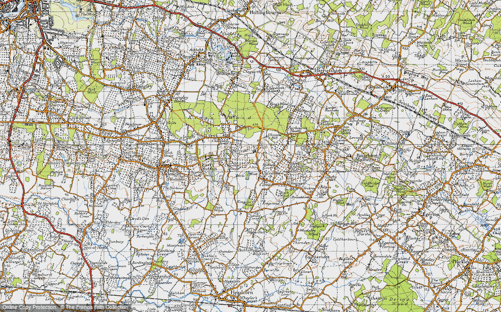 Old Map of Ulcombe, 1940 in 1940