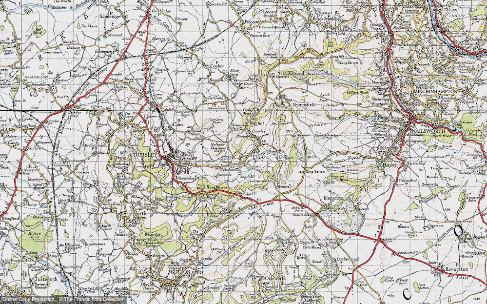 Old Map of Uley, 1946 in 1946