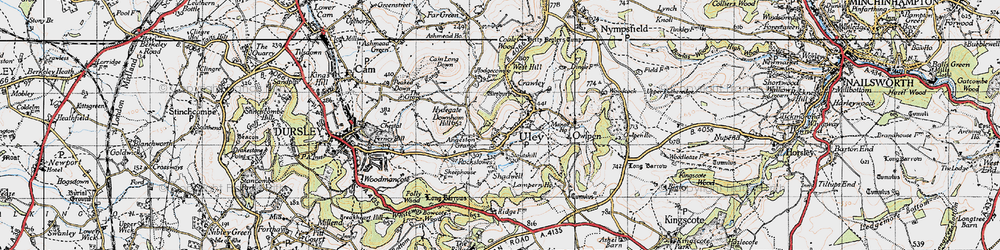 Old map of Uley in 1946