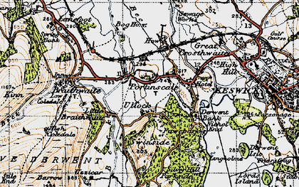 Old map of Ullock in 1947