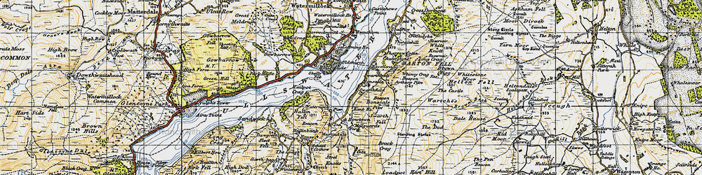 Old map of Whitestone Moor in 1947