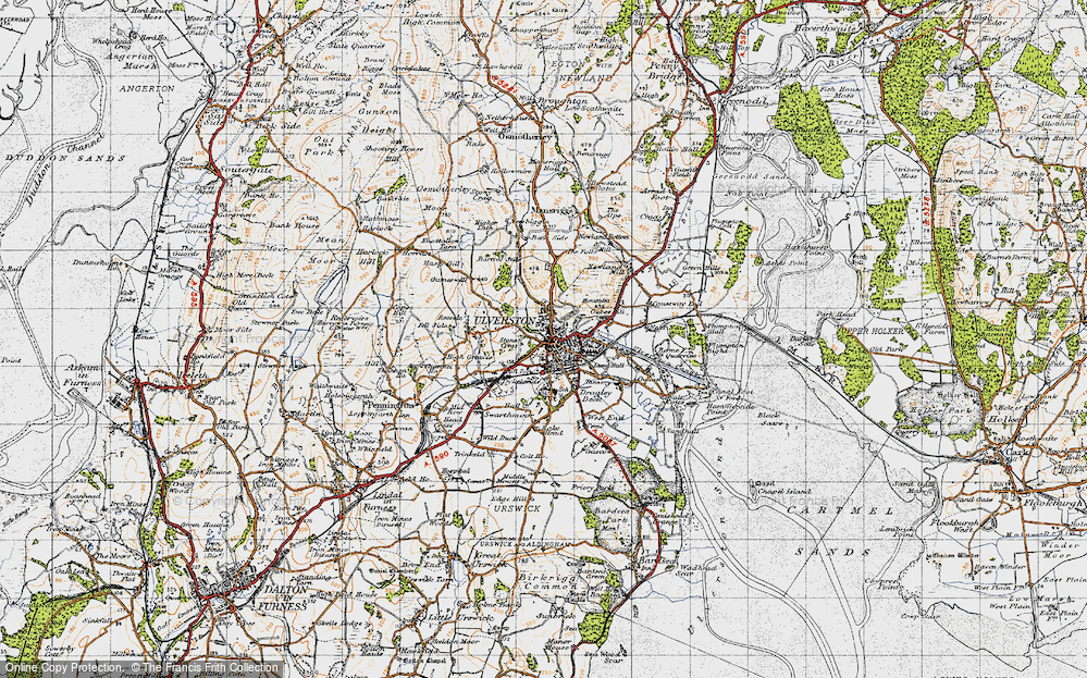 Old Map of Historic Map covering Levy Beck in 1947
