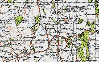 Old map of Lindreth Brow in 1947