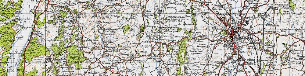 Old map of Redscar in 1947