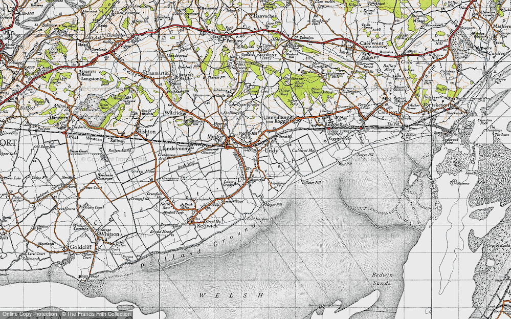 Old Map of Undy, 1946 in 1946