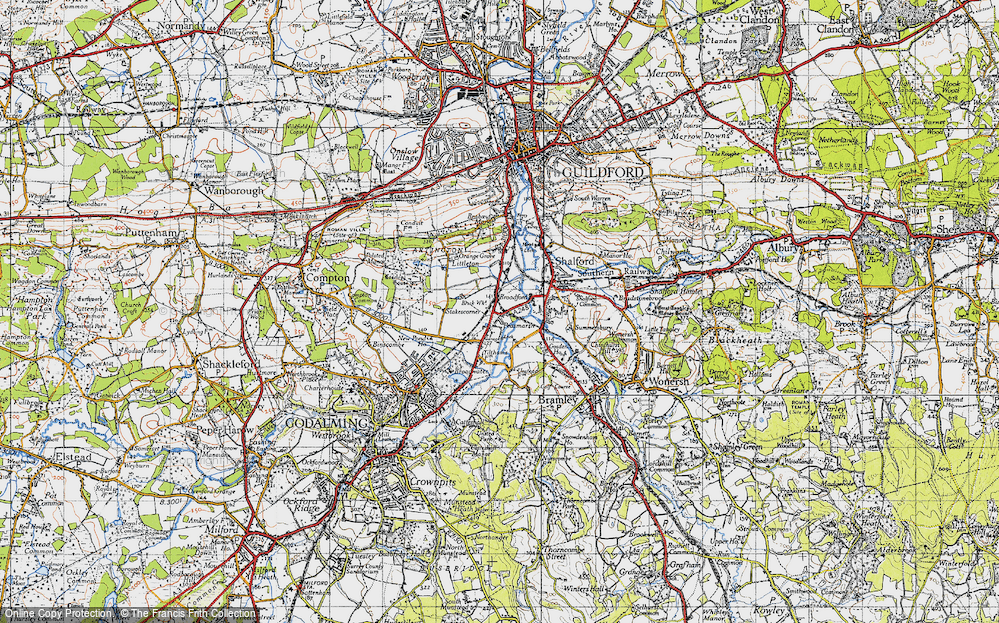 Old Map of Unstead, 1940 in 1940