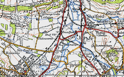Old map of Unstead in 1940