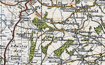 Old map of Bank Green in 1947