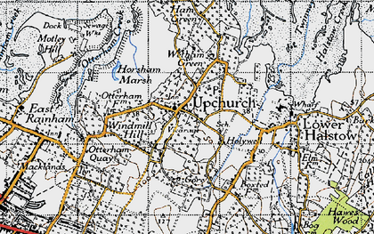 Old map of Upchurch in 1946