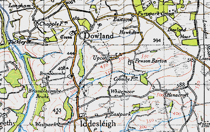 Old map of Whitemoor in 1946