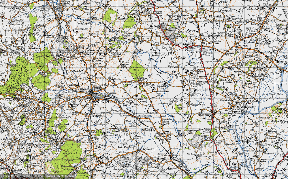 Old Map of Upleadon, 1947 in 1947