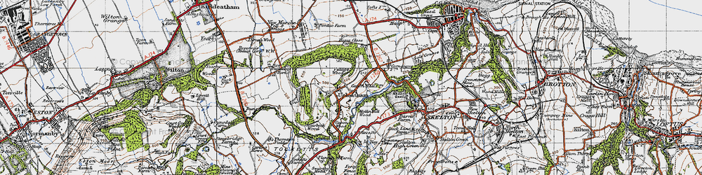 Old map of Tocketts Mill in 1947