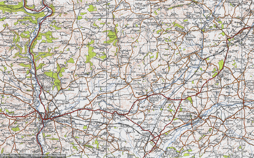 Old Map of Uplowman, 1946 in 1946
