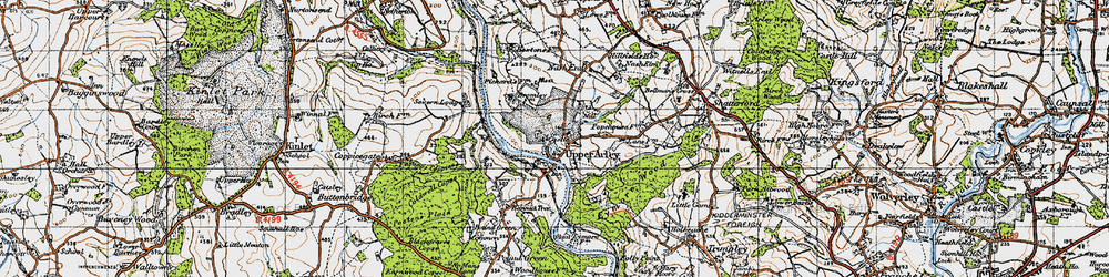 Old map of Upper Arley in 1947