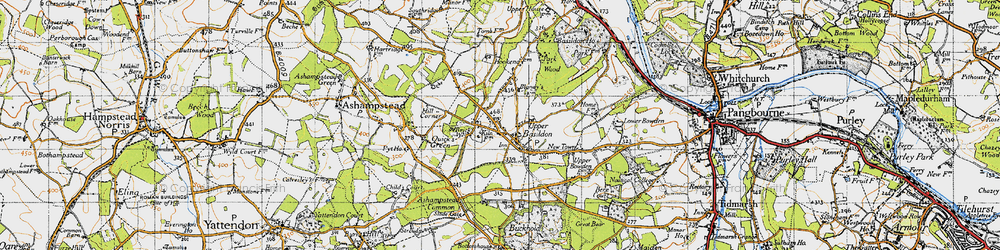 Old map of Upper Basildon in 1947