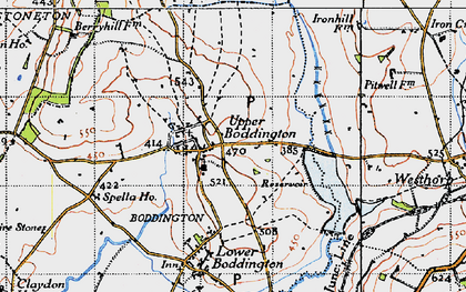 Old map of Upper Boddington in 1946