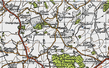 Old map of Wetton in 1947
