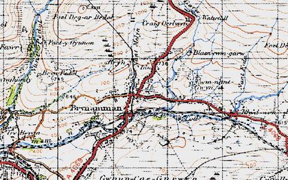 Old map of Upper Brynamman in 1947