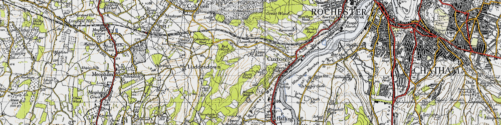 Old map of Wingate Wood in 1946