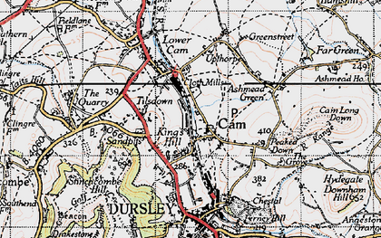 Old map of Upper Cam in 1946