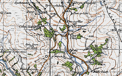Old map of Baily Brith in 1947