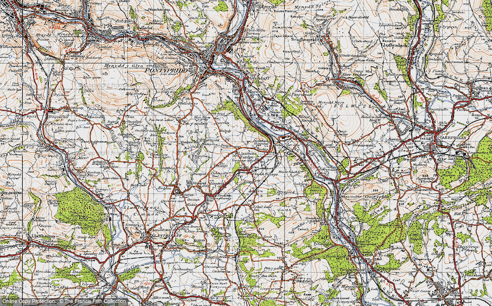 Old Map of Upper Church Village, 1947 in 1947