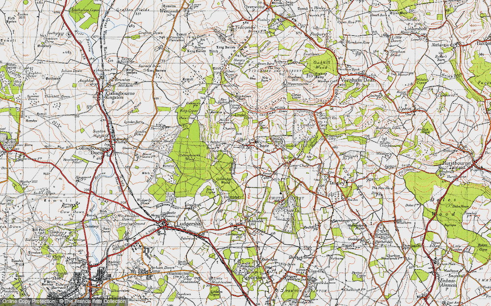 Old Map of Historic Map covering Limmer Copse in 1940
