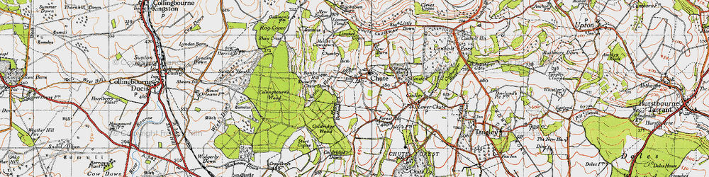 Old map of Limmer Copse in 1940