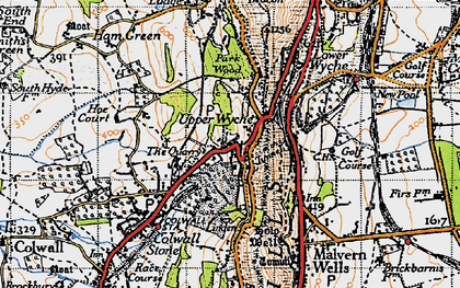 Old map of Linden in 1947