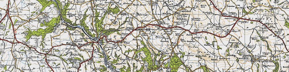 Old map of Lanehead in 1946