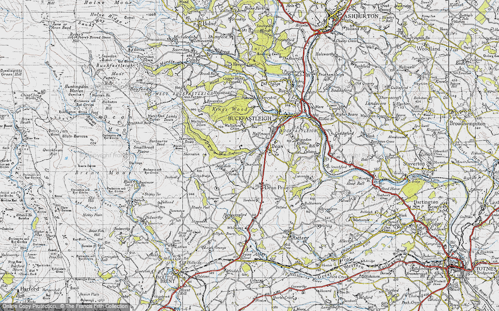 Old Map of Historic Map covering Addislade in 1946