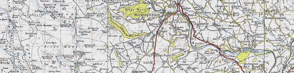 Old map of Addislade in 1946