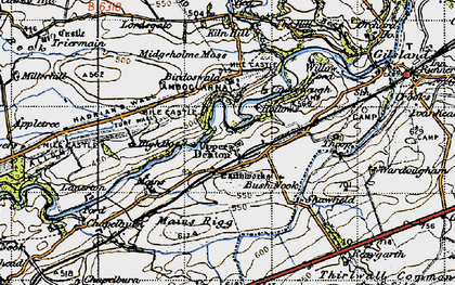 Old map of Banna (Roman Fort) in 1947