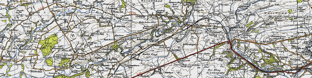 Old map of Appletree in 1947