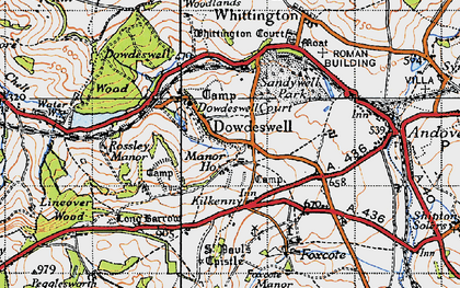 Old map of Upper Dowdeswell in 1946