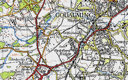Old map of Upper Eashing in 1940