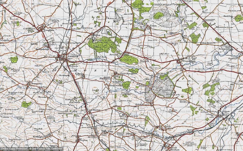 Old Map of Upper Hambleton, 1946 in 1946