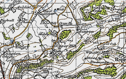 Old map of Winsley Ho in 1947