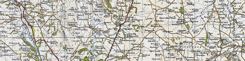 Old map of Windygates in 1947