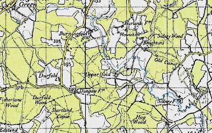 Old map of Upper Ifold in 1940