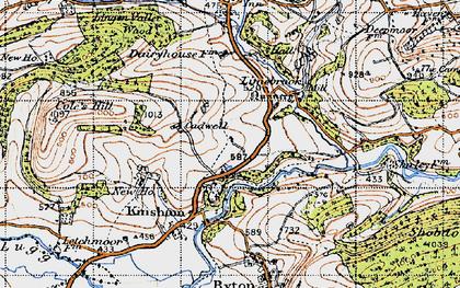 Old map of Lingen Vallet Wood in 1947
