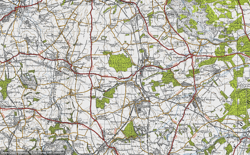 Old Map of Upper Langwith, 1947 in 1947