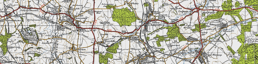 Old map of Upper Langwith in 1947