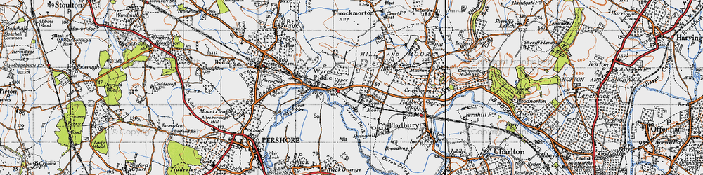 Old map of Lench Ditch in 1946