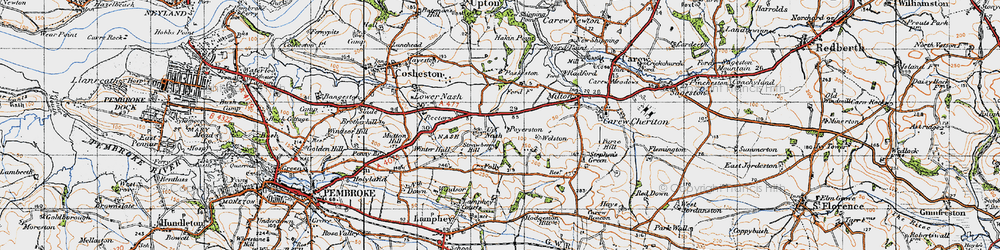 Old map of Winter Hall in 1946