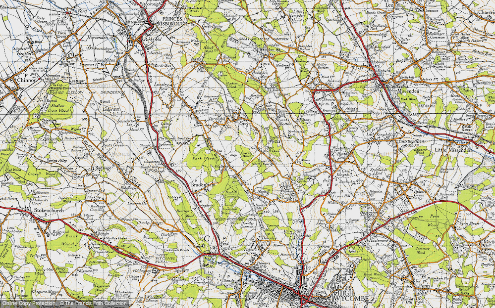 Old Map of Upper North Dean, 1947 in 1947